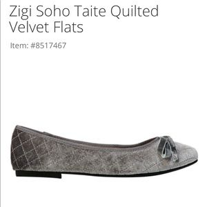 Zigi soho Taite velvet quilted flat size 9.5